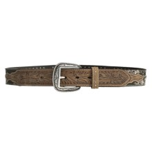Ariat Reload Silver Buckle Belt - Distressed Leather, Mossy Oak® (For Men) in Mossy Oak/Distressed Leather - Closeouts