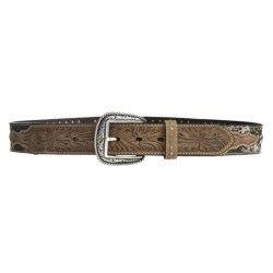 Ariat Reload Silver Buckle Belt - Distressed Leather, Mossy Oak® (For Men) in Mossy Oak/Distressed Leather