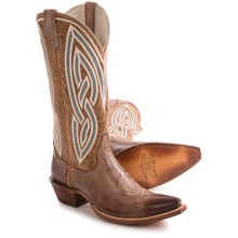 "Ariat Riata Cowboy Boots - 12"", X-Toe (For Women) in Gunsmoke/Golden Tan - Closeouts"