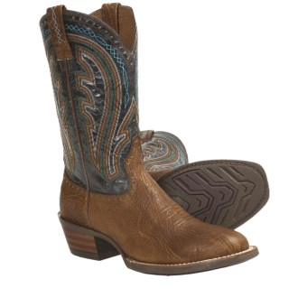 Ariat Ricochet Cowboy Boots - Leather, W-Toe (For Men) in Tan/Turquoise