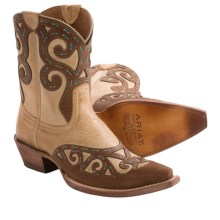Ariat Rio Cowboy Boots - Leather, X-Toe (For Women) in Oak Barrel - Closeouts