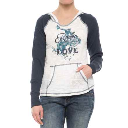 Ariat Rodeo Love Hooded Shirt - Long Sleeve (For Women) in Cloud Dancer - Closeouts