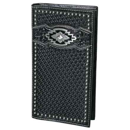 Ariat Rodeo Wallet/Checkbook Cover - Leather (For Men) in Black - Closeouts
