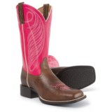 """Ariat Round Up Wide Cowboy Boots - 11"""", Square Toe (For Women)"""