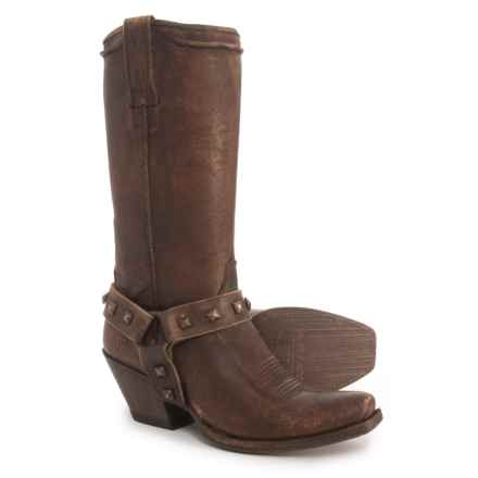 "Ariat Rowan Harness Cowboy Boots - 12"", Square Toe (For Women) in Naturally Distressed Brown - Closeouts"