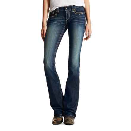 Ariat Ruby Archway Jeans - Low Rise, Bootcut (For Women) in Marine - Closeouts