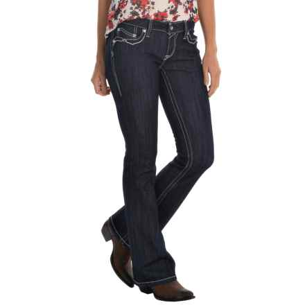 Ariat Ruby Cascade Flap Jeans - Low Rise, Bootcut (For Women) in Rinse - Closeouts