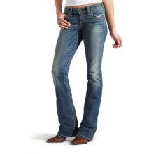 Ariat Ruby Santa Fe Jeans - Low Rise, Bootcut (For Women) in Cloud - Closeouts