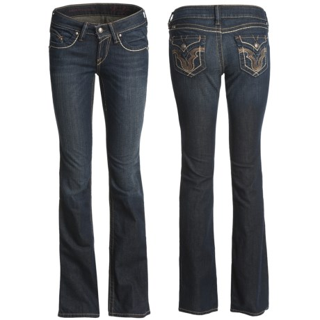 Ariat Ruby Stretch Jeans - Slim Fit, Low Rise, Bootcut (For Women) in Cheyenne