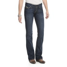 Ariat Ruby Stretch Jeans - Slim Fit, Low Rise, Bootcut (For Women) in Moonshadow - Closeouts