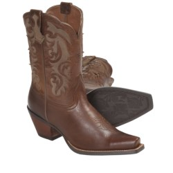 Ariat Shada Cowboy Boots - D-Toe, Leather (For Women) in Peanut Brittle/Brown Bomber
