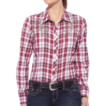 Ariat Shasta Shirt - Snap Front, Long Sleeve (For Women) in Red/White - Closeouts