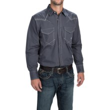 Ariat Shelby Shirt - Snap Front, Long Sleeve (For Men) in Ombre Blue - Closeouts