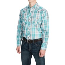 Ariat Sheldon Plaid Shirt - Long Sleeve (For Men) in Mod Turquoise - Closeouts