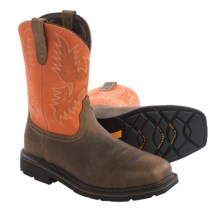 Ariat Sierra Work Boots - Steel Toe, Leather (For Men) in Earth/Orange - Closeouts