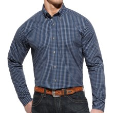 Ariat Smith Check High-Performance Shirt - Slim Fit, Long Sleeve (For Men) in Blue Multi - Closeouts