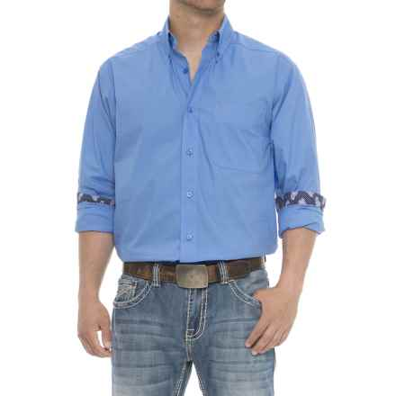 Ariat Solid Poplin Shirt - Long Sleeve (For Men) in Delphinium - Overstock