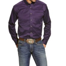 Ariat Solid Twill Shirt - Long Sleeve (For Men) in Black Orchid - Closeouts