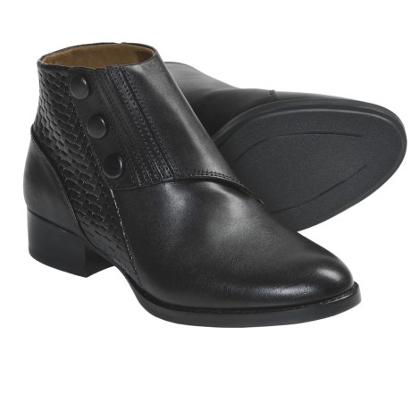 Ariat Spat 3 Ankle Boots - Leather (For Women) in Black
