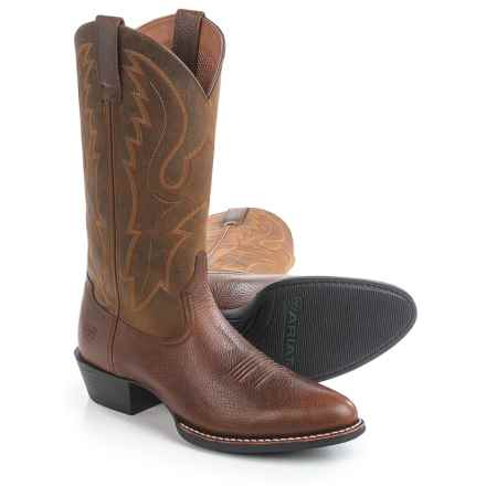 "Ariat Sport R-Toe Cowboy Boots - 13"" (For Men) in Fiddle Brown - Closeouts"