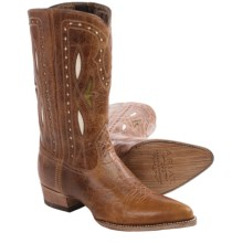 Ariat Starling Cowboy Boots - Leather, J-Toe (For Women) in Gingersnap - Closeouts