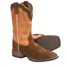Ariat Sweetwater Cowboy Boots - Full-Grain Leather, Square Toe (For Men) in Broncy Brown/Pumpkin - Closeouts