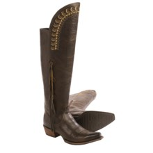 "Ariat Tallulah Tall Cowboy Boots - 15"", Snip Toe (For Women) in Prairie Brown - Closeouts"