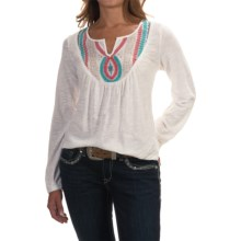 Ariat Taylor Embroidered Shirt - Long Sleeve (For Women) in White - Overstock