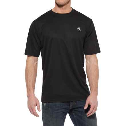 Ariat TEK Crew Shirt - Short Sleeve (For Men) in Black - Closeouts