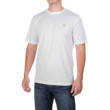 Ariat TEK Crew Shirt - Short Sleeve (For Men) in White - Closeouts