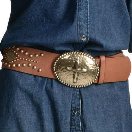 Ariat Tesoro Wide Belt - Leather (For Women) in Brown