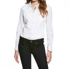Ariat Tetonia Western Shirt - Snap Front, Long Sleeve (For Women) in White - Closeouts
