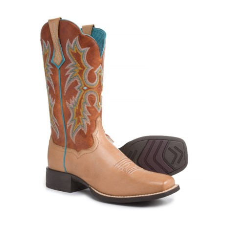 """Ariat Tombstone Cowboy Boots - 11"""", Square Toe (For Women) in Tack Room Honey"""