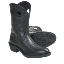 Ariat Trail Hand Cowboy Boots - Full-Grain Leather (For Men) in Black Deertan - Closeouts