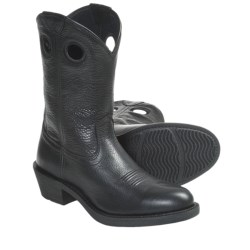 Ariat Trail Hand Cowboy Boots - Full-Grain Leather (For Men) in Black Deertan