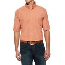Ariat Trey High-Performance Shirt - Short Sleeve (For Men and Tall Men) in Madly Orange - Closeouts