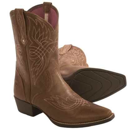 Ariat Tribute Cowboy Boots - Leather, Snip Toe (For Little and Big Kids) in Desert Tawny - Closeouts