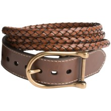 Ariat Triple-Braid Belt - Leather (For Women) in Chocolate - Closeouts