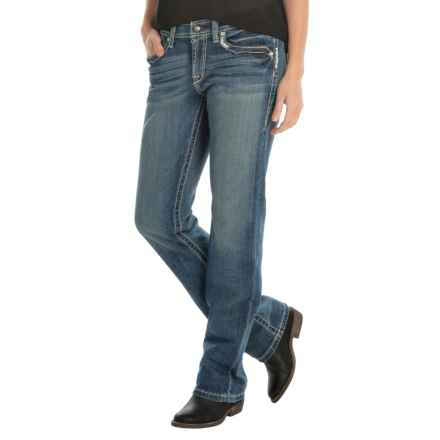 Ariat True Grit Boyfriend Jeans - Straight Leg, Low Rise (For Women) in Lonestar - Closeouts