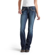 Ariat Turquoise Tied-Up Jeans - Bootcut, Mid Rise (For Women) in Spitfire - Closeouts