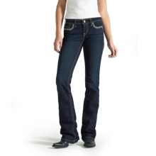 Ariat Turquoise Waterfall Jeans - Bootcut, Mid Rise (For Women) in Big Sky - Closeouts