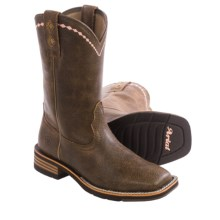 "Ariat Unbridled Cowboy Boots - 10"", Square Toe (For Women) in Vintage Bomber - Closeouts"