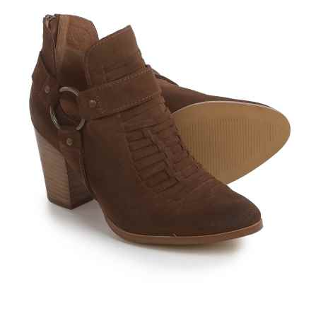 Ariat Unbridled Jaelle Tumbled Booties - Suede (For Women) in Brown - Closeouts