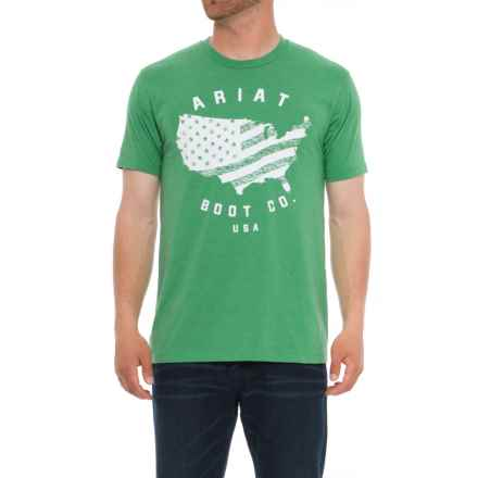 Ariat USA T-Shirt (For Men) in Kelly Heather - Overstock
