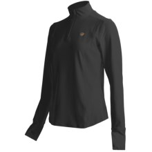 Ariat Ventura Shirt - Zip Neck, Long Sleeve (For Women) in Black - Closeouts