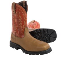 "Ariat Wildcatter 11"" Work Boots - Composite Toe (For Men) in Peanut/Brick - Closeouts"