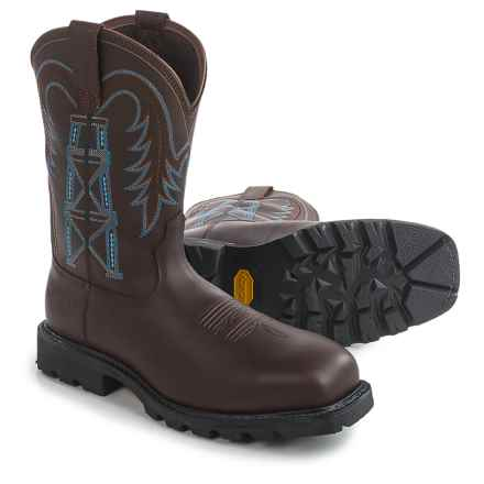 Ariat Wildcatter Pull-On H2O Work Boots - Composite Toe, Waterproof (For Men) in Chocolate - Closeouts