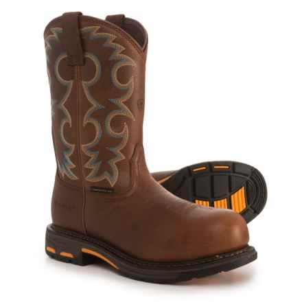 "Ariat WorkHog Cowboy Work Boots - Composite Safety Toe, 11"" (For Women) in Nutty Brown - Closeouts"