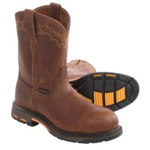 Ariat Workhog Pull-On Leather Work Boots - Composite Toe (For Men) in Golden Grizzly - Closeouts
