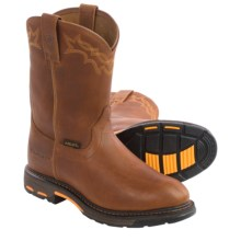"Ariat Workhog Pull-On Work Boots - 10"" (For Men) in Golden Grizzly - Closeouts"